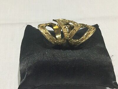 House of Harlow 1960 Nicole Richie New & Gen.14 KT Gold Plated Ring