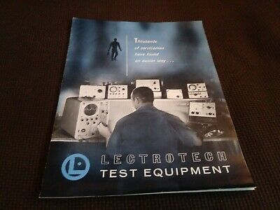1969 Lectrotech Test Equipment Catalog Color Bar Generators Tube Analyzer