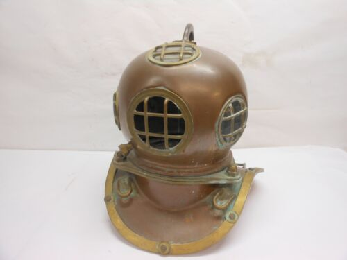 Antique Copper and Brass Divers Helmet