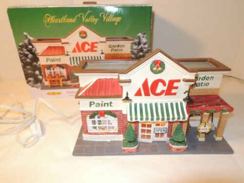 Heartland Valley Village Ace Hardware Store Lighted House Porcelain w/ Box