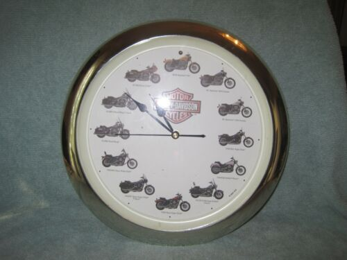 """Vintage Harley Davidson 13""""Clock Motorcycle For Numbers and Hourly Sounds-Tested"""