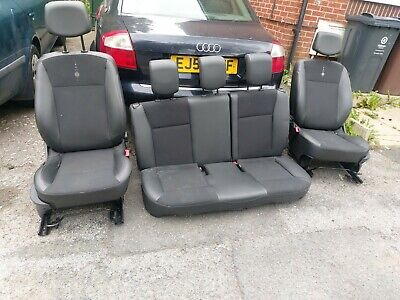 🚘RENAULT CLIO MK3 3DR COMPLETE FRONT & REAR HALF LEATHER INTERIOR SEATS🚘