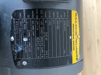 Baldor Reliancer Industrial Motor M3538