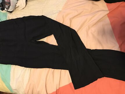 Size 12 black maternity pants and belly band