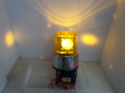 Vintage Action Lite Rotating Strobe Beacon Light Amber Volts 12 Date 3-86 Bb-p
