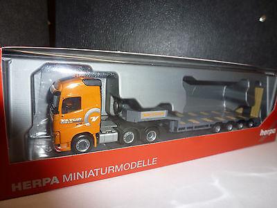 Herpa,306409  Volvo FH Gl. 6x2 Semitieflade-Sattelzug