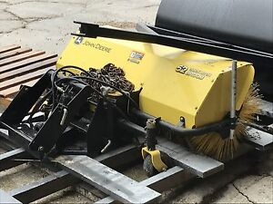 52 inch lawn sweeper and front end quick connect