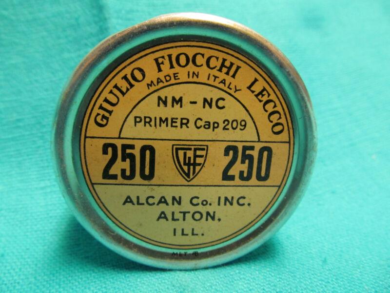 EMPTY GIULIO FIOCCHI-LECCO NM-NC PRIMER CAP 209 TIN ITALY ALCAN CO ALTON ILL