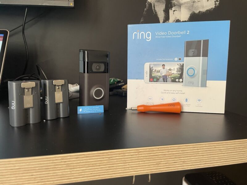 ring video doorbell 2 (with extra battery)