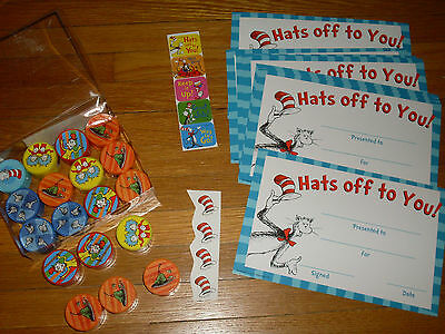Teaching Resource:Dr Seuss theme-18 pencil sharpeners,9 good job cards,9 sticker