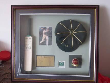 Sir Don Bradman framed memorabilia Kariong Gosford Area Preview