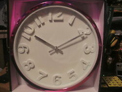 EMBOSSED WALL CLOCK BY MAINSTAYS