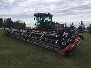 2008 Case IH WD 1203 swather with 36' header