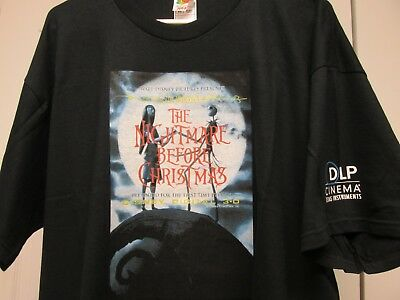 DISNEY THE NIGHTMARE BEFORE CHRISTMAS XL CREW MOVIE PROMO SHIRT + FREE - Nightmare Before Christmas Clothing