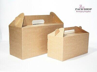Brown Gable Christmas Gift Boxes Bulk Wholesale Kraft Wedding Party Birthday Box