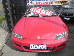 1992 Honda Civic  BREEZ 2 DOOR Hatchback COMES WITH RWC Dandenong Greater Dandenong Preview