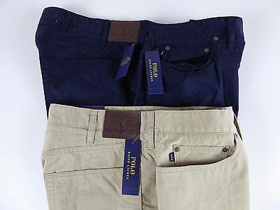 Polo Ralph Lauren Cotton Chino Twill 5 Pocket Stretch Classic Fit Pants NWT $145 - Lauren Ralph Lauren Cotton Twill Pant