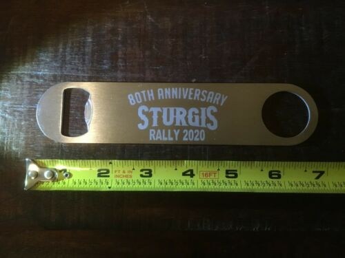 Stainless Bottle Opener Engraved Sturgis 80th Anniversary Motorcycle Rally 2020