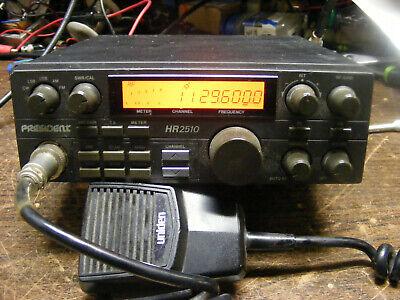 Uniden President HAM RADIO CB RADIO HR-2510 WORKING