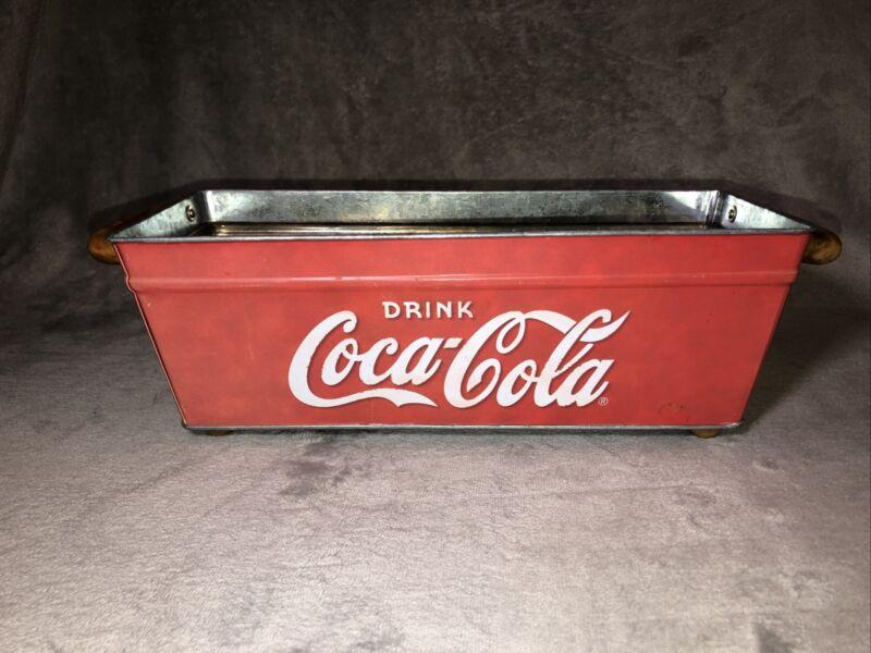 """Coca Cola 15"""" Galvanized Rectangular Metal Tub"""