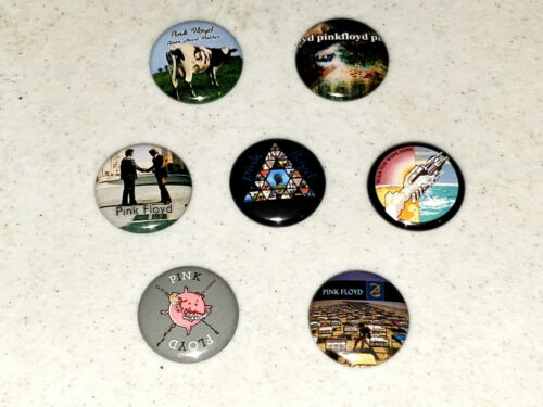 Pink Floyd 1 Inch Button x7 NEW David Gilmour Roger Water LOT B