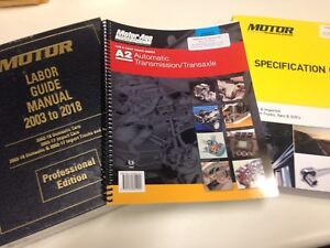 2018 Motor Labor Guide +  Spec Book +  ASE of Your Choice - VIA USPS