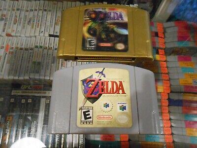 The Legend of Zelda Majora's Mask & Ocarina of Time N64 Nintendo 64 AUTHENTIC