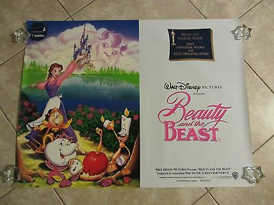 BEAUTY AND THE BEAST movie poster WALT DISNEY original 1991 UK poster