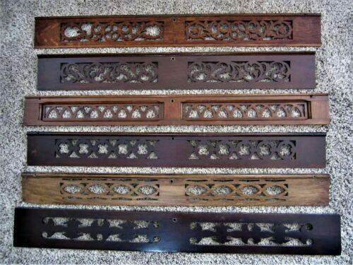 Ornate Walnut Oak Fretwork Panels Victorian Furniture Grates Carved Pediments