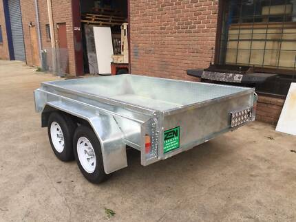NEW 8x5 GALVANISED HEAVY DUTY TANDEM CHECKER-PLATE TRAILER Rosebud Mornington Peninsula Preview