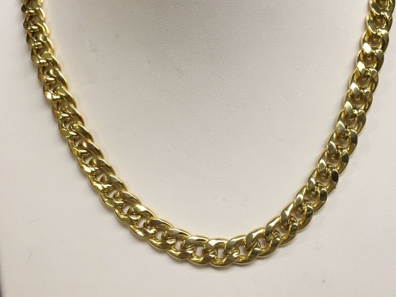 "14k Gold Miami Cuban Curb Link 20"" 8 Mm 38 Grams Chain/necklace (rel)"