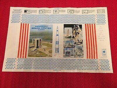 APOLLO MEMORABILIA-Vintage 1971 NASA Book Cover, Kennedy Space Center Gift Shop