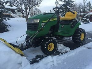reduced;John Deere L 110 tractor mower Snowblade