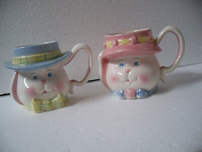 Papel Giftware Boy and Girl Face Mugs Cups