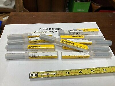 Lot Of 10 Kennametal 4101775 7.5mm 135 Point Carbide Coolant Taper Drills