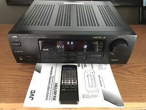 JVC RX-667V  powerful Receiver 22.5lbs 100WPC  Works  A1