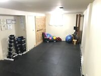 Affordable personal training in private studio close to downtown