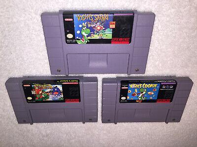 Usado, Lot of 3 Games: Yoshi Cookie, Yoshi Island & Yoshi Safari Super Nintendo SNES Ex comprar usado  Enviando para Brazil