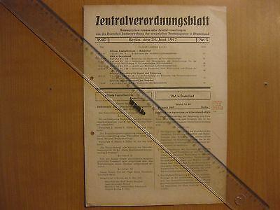 Zentralverordnungsblatt Deutsche Justizverwaltung der SMA in Deutschland 1947-5