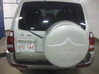 LOST - Pearl White Spare Tire Cover for Mitsubishi Montero