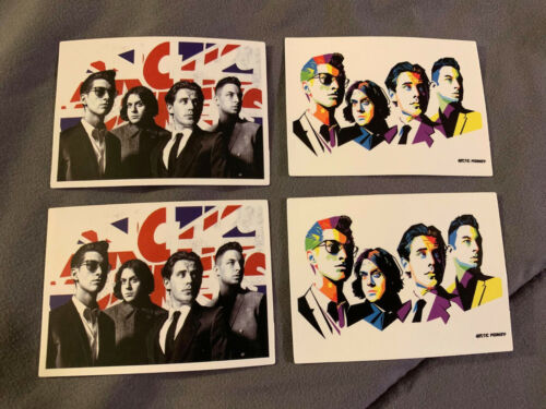 "Lot of 4 ARCTIC MONKEYS 2"" x 2 3/4"" Band Logo Stickers FAST! FREE SHIP!"