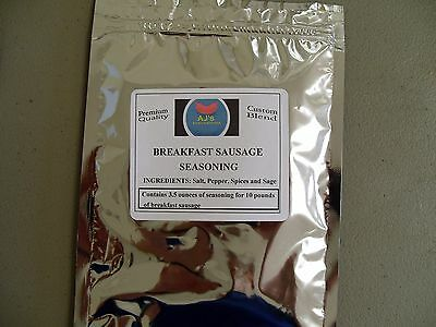 Breakfast Sausage seasoning( Almost Famous)3.2 oz for 10 lb meat (SPECIAL PRICE)