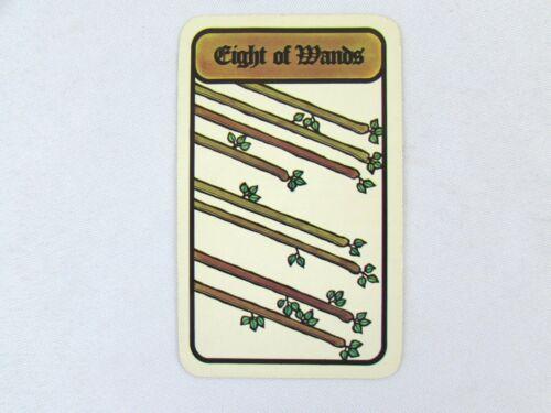 Vintage 1972 Hoi Polloi Tarot *Single Replacement Card* Eight of Wands