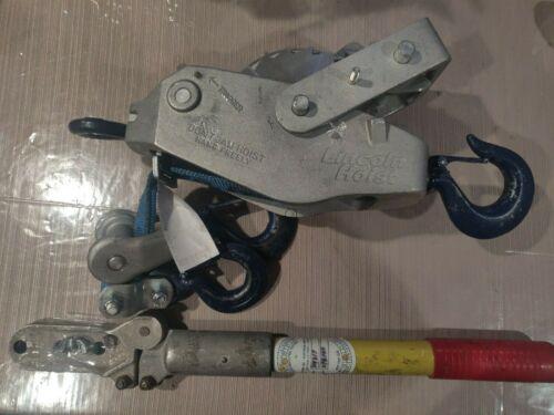 LINCOLN HOIST 10 ft Double Line Cable Ratchet Hoist 2000/4000 lb/2 Ton 4W12