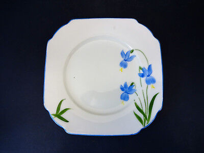 Vintage Victoria China (Czechoslovakia) Deco Shaped Side Plate: Handpainted for sale  Shipping to Ireland