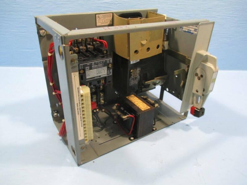 "Square D Model 4 Size 1 15 Amp Breaker MCC Bucket MCCB 12"" Sz 1 15A Mod 4 Mod4"