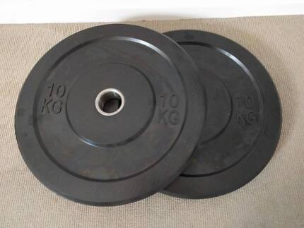 70kg of Bumper weight Plates with Bar