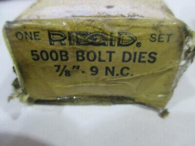Ridgid 500b Bolt Dies 78-9 Nc