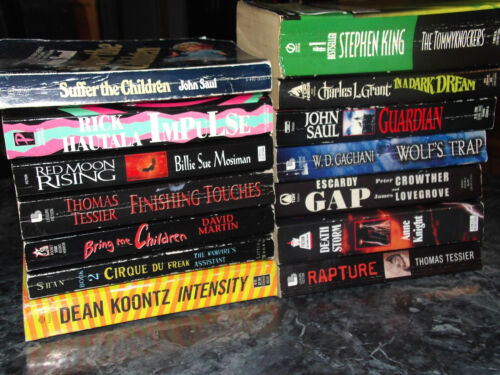 Horror lot of 15 assorted authors paperbacks