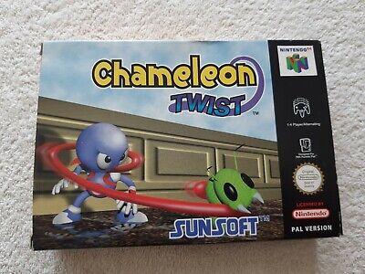 CHAMELEON TWIST ~ Nintendo 64 N64 PAL Boxed & Complete Collectors
